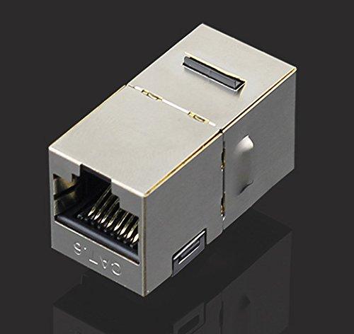 『KAUMO LAN延長コネクタ CAT6 カテゴリー6 ギガビット対応 (金属シールド) KM-LC25』の1枚目の画像