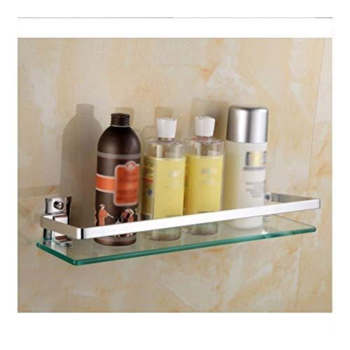 LYMUP Toallero repisa Flotante estantes de Vidrio de Aluminio del baño de...