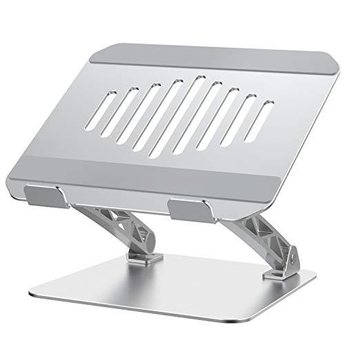 Sross Laptop Ständer Multi-Angle Laptopständer mit Heat-Vent, Aluminium Einstellbares Notebook Ständer Kompatibel für Laptop (11-17 Zoll) MacBook Pro/Air, Lenovo, Dell, Samsung, MateBook