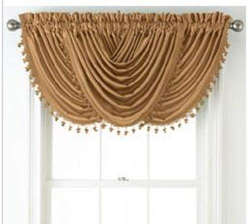 Chris Madden Hilton Waterfall Valance, Topaz
