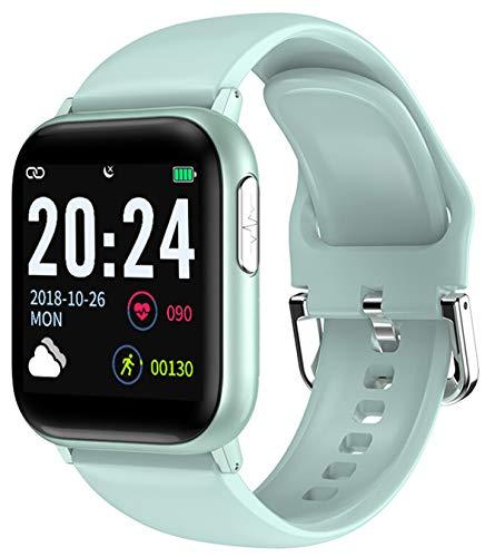 Damen Fitness Uhr mit Blutdruckmessung Herren Pulsuhr Sport Armbanduhr Schrittzähler Kalorie Schlaf Tracker SMS Wasserdicht Bluetooth Smartwatch IOS Android