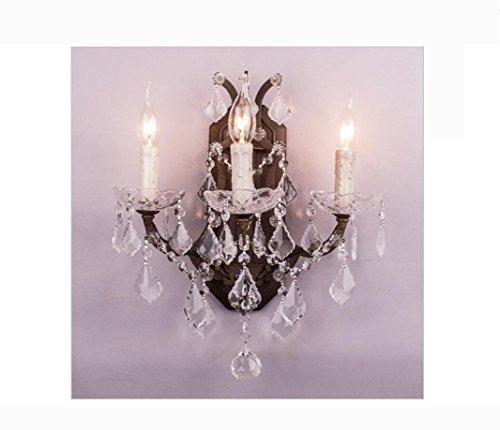 AllureFeng français de grand luxe grand rouille antique fashional lumières de vanité de salle de bain-mur-lampes lampe murale bougie en cristal