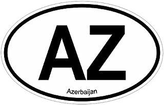 Azerbaijan AZ oval Vinyl Decal Sticker