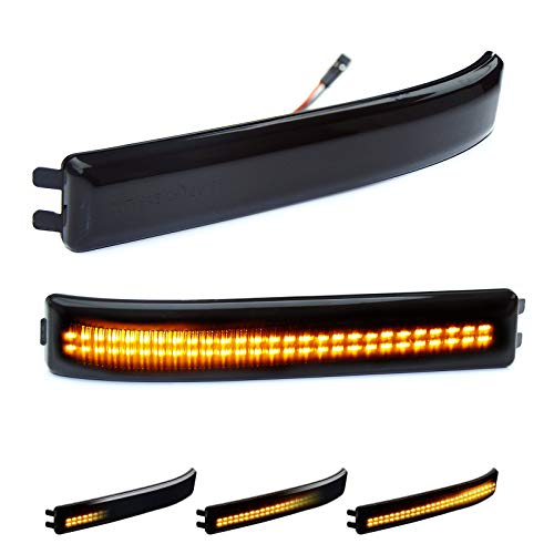 D-Lumina Sequential LED Side Mirror Reflector Turn Signal Lights Smoked Lens...