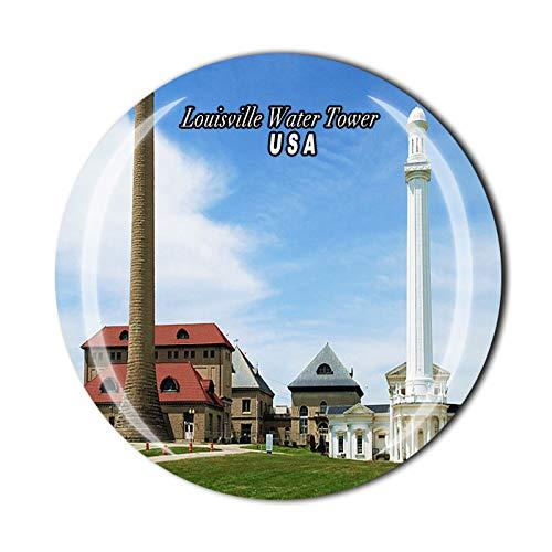 Louisville Water Tower USA Imán 3D para nevera, recuerdo de cristal, colección de recuerdos, regalo para decoración del hogar y cocina