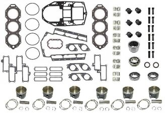 New Powerhead Rebuild Kit Johnson & Evinrude V6 185-225hp, 1985-1987