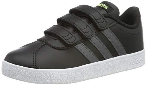 Adidas Vl Court 2.0 Cmf C, Zapatillas de deporte Unisex Niños, Negro (Core Black/Grey Five/Ftwr White), 35
