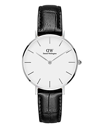 Daniel Wellington Petite Reading Silver Watch, 32mm, Leather, for Men and Women