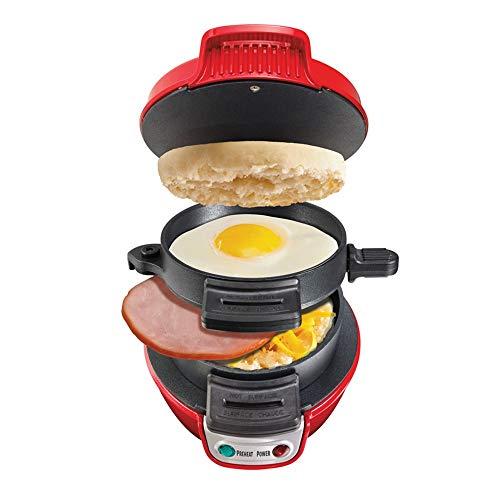 YFGQBCP Hamburguesa de la máquina/Panini Casa Desayuno automático Mini Sandwich máquina de Doble Cara/Cacerola Antiadherente