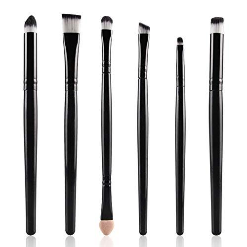 PoplarSun 2018 New 15pcs cosmétiques Pinceau de Maquillage Femmes Fondation Fard à paupières Eyeliner lèvres Maquillage Pinceaux Yeux Set 11 WH998 (Handle Color : 6Black)