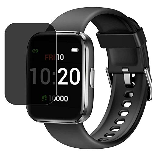 Vaxson Pellicola protettiva anti-spy compatibile con Letsfit IW1 1.4' Smartwatch Smart watch, protezione schermo per privacy [non in vetro temperato]