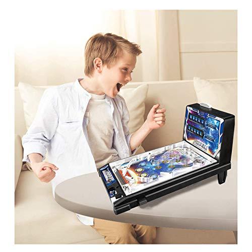 LYBC Juego De Pinball,Máquina Electrónica De Pinball De Mesa,Mini Pinball Toy,Arcade Retro Máquinas De Pinball Regalo De Fiesta,Negro