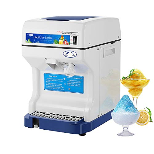 VIVOHOME Electric Ice Crusher Shaver Snow Cone Maker Machine 265lbs/hr for Home and Commercial Use Blue