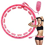 NORTH BISON Smart Weighted Hoola Hoops, 2 in 1 Abdomen Fitness Hula Circle Hoop 15 Detachable Knots Adjustable Auto-Spinning Weighted Sandbag, Hoola Hoop for Adults Weight Loss