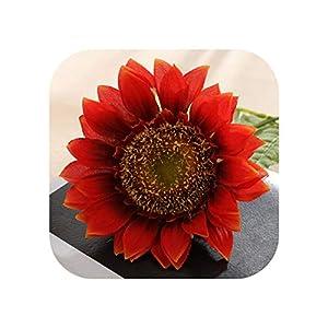 Joyfeel-light 5pcs 45cm Artificial Flower Silk Branch Big Flower Head Sunflower Summer Garden Balcony Home Decoration Fake Flower
