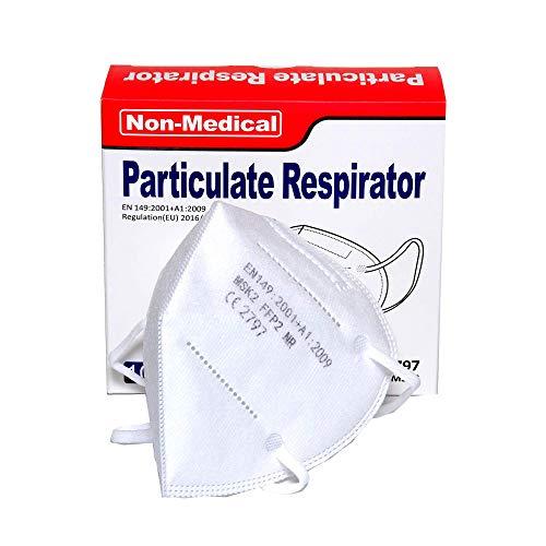 ISN mask2 – FFP2 / KN 95 Atemschutzmaske, staubdicht, einzeln verpackt – Atmungsaktive 5-Lagen-Maske CE-zertifiziert -10er Packung. - 4