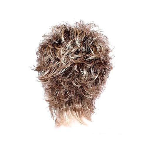 Pelucas naturales de la capa marrn del pelo de las pelucas cortas para las mujeres