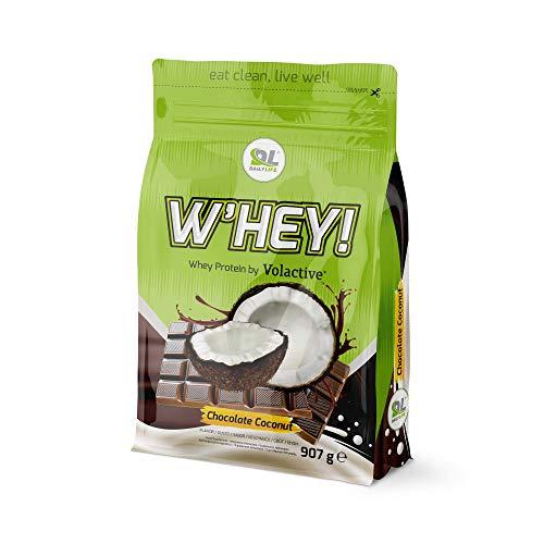 Proteine Whey- Proteine del siero del latte W'HEY 907 g (Cioccolato - Cocco)