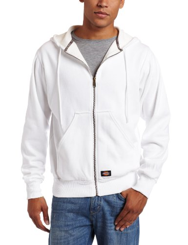 Dickies Men's Thermal Lined Fleece Jacket, White, XX-Large