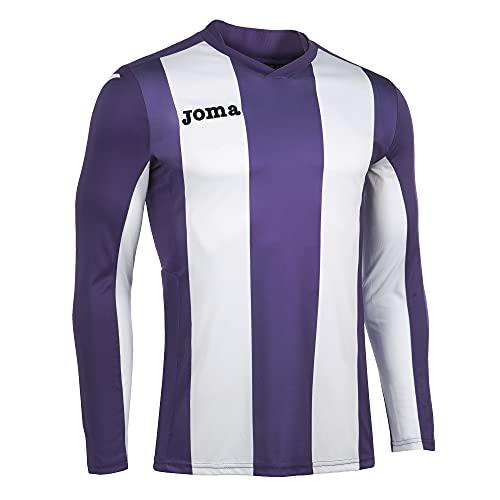Joma Pisa Camiseta de Juego Manga Larga, Hombre, Violeta-Blanco, 6XS-5XS