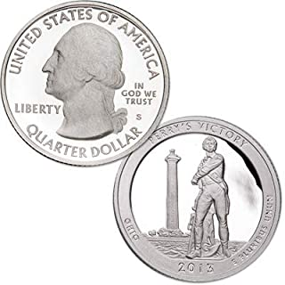 2013 S America the Beautiful Ohio Perry's Victory Clad Quarter PF1