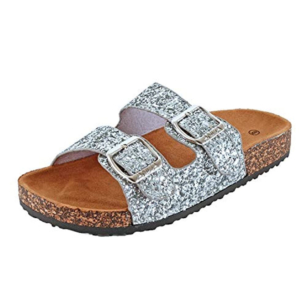 Guilty Shoes Womens Slippers Double Strap Easy Slip On Flip Flops Thong Casual Slides Sandals Flats