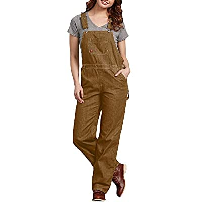 Dickies Women's Bib Overall, Rinsed Brown Duck, Large by Dickies