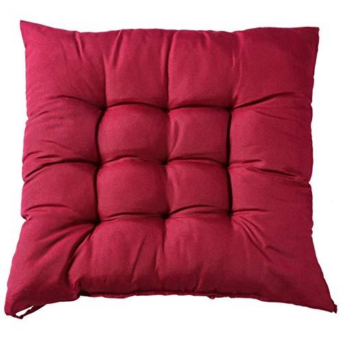 Gesh Cojín cuadrado para silla más grueso para comedor, patio, oficina, interior, exterior, jardín, sofá, nalgas