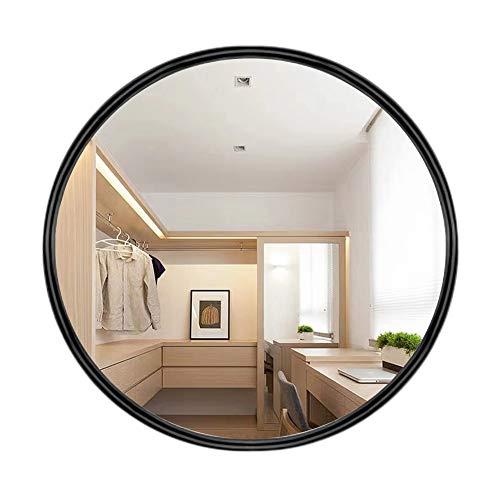 AUFHELLEN Rund Wandspiegel mit Metallrahmen Schwarz Spiegel aus Glas 50cm für Bad-, Ankleide- und Wohnzimmer Schminkspiegel (Schwarz)