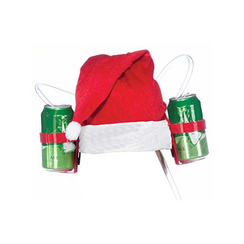 Casco de cerveza Navidad con doble ranura para bebidas