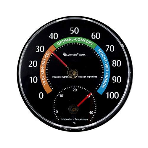 Lantelme Thermometer Hygrometer Kombigerät für Raumtemperatur Feuchtemesser Innen Zimmer Raumklima analog 7580