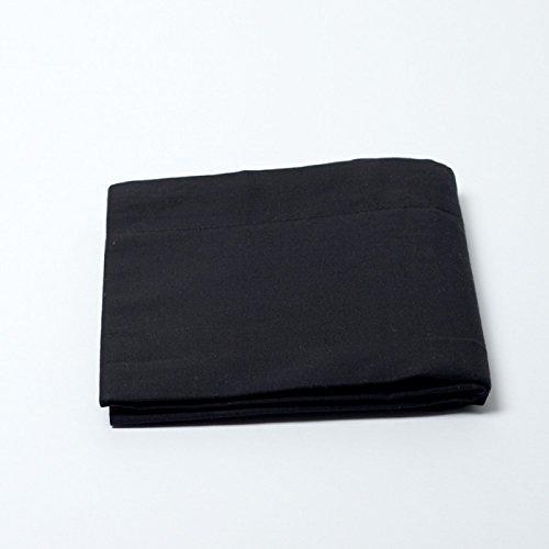 UNIVERS-DECOR Drap Plat 57 Fils/cm² 180 x 290 cm Noir