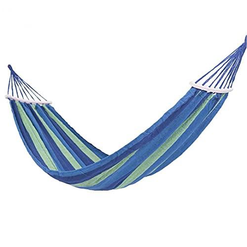 Eaarliyam Hamaca Silla, sillón Hamaca Relax oscilación Colgante Presidente algodón de ligamento forCamping, Senderismo, Viajes y Jardín (Azul)