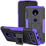 Moto Z4 Case, Motorola Z4 Play Case, Viodolge [Shockproof] Hybrid Tough Rugged Dual Layer Protective Phone Case Cover with Kickstand for Motorola Moto Z4 Play (Purple)