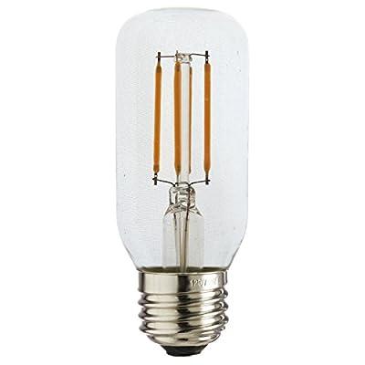 Sunlite 80892 LED T12 Filament Style Light Bulb 3-Watt (25W Equivalent), Dimmable, Tube Lightbulb, 1 Pack, 27K - Warm White