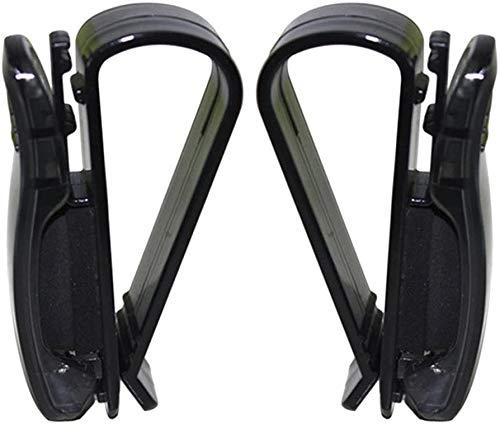 CathEU Auto Brillenhalter, Brillenhalter für Auto Sonnenblende, Auto Brillenetuis, Sonnenbrillenhalter Clip Hanger Brillen Mount2pcs (Black)