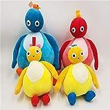 Juguete suave 4 unids nuevo Twirlywoos Chickedy Chick Peekaboo 8 pulgadas y 12 pulgadas de peluche de juguete