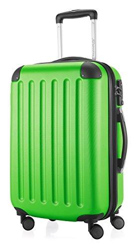 HAUPTSTADTKOFFER - Spree - Handgepäck Hartschalen-Koffer Trolley Rollkoffer Reisekoffer Erweiterbar, TSA, 4 Rollen, 55 cm, 42 Liter, Apfelgrün