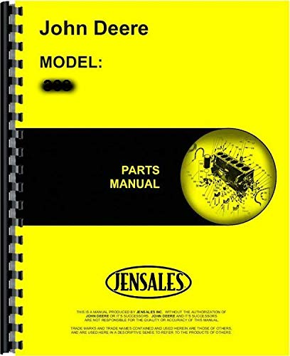 JOHN DEERE 38T LAWN SWEEPER PARTS MANUAL - NEW