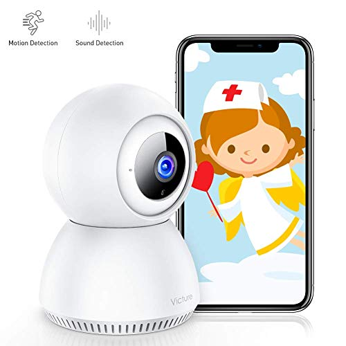 [Stay Strong, USA] Victure 1080P FHD Baby Monitor with Smart Motion Tracking Sound Detection 2.4G WiFi Wireless Home Security Camera Indoor IP Surveillance Pet Camera with Night Vision, 2-Way Audio Monitors