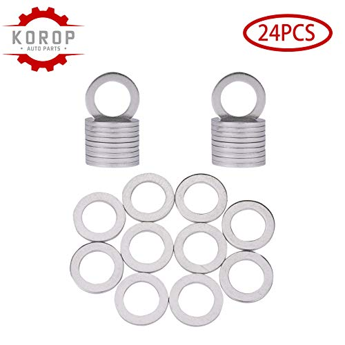 94109-14000 Aluminum Oil Drain Plug Gaskets(24Pcs) Fits For HONDA ACURA Crush Washer SealsReplaces# 9410914000
