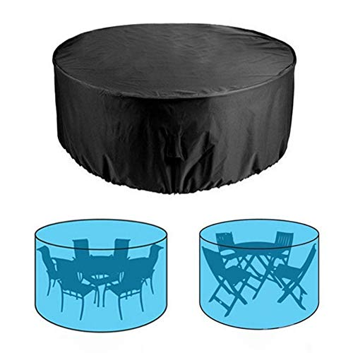 Fevzau Round Table Furniture Cover Waterproof Patio Cover for Outdoor Table Desk Chair Sofa