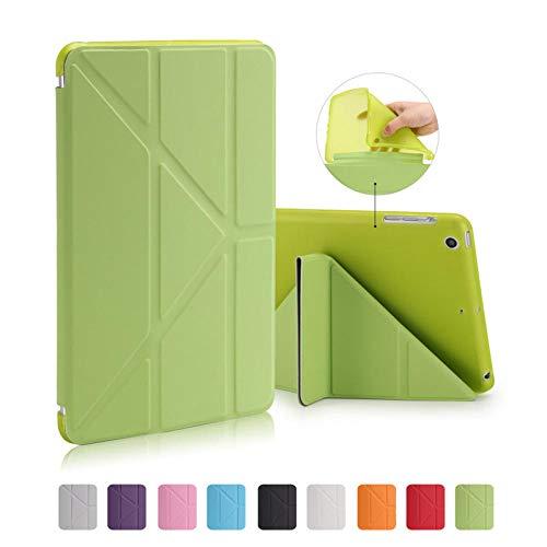 SUNMINGY Smart Case Funda For Ipad Mini 4 Mini4 7.9 Soft Leather Case Ultra-Thin Folding Sleep & Wake-Up Function-Green