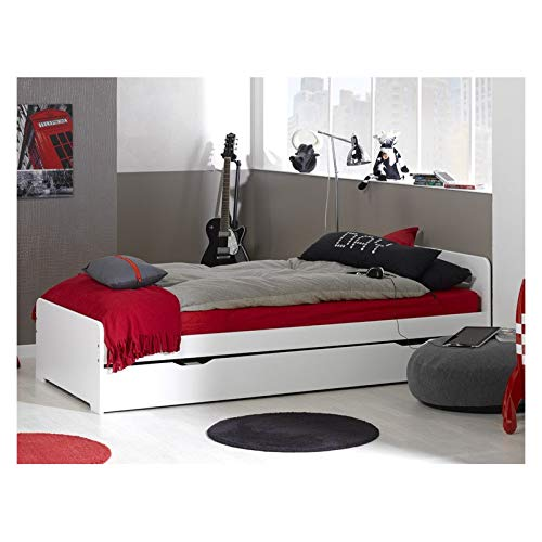 Alfred & Cie - Lit gigogne 90x200 complet avec sommiers blanc Adele