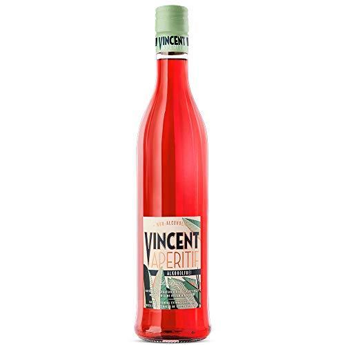 Schladerer VINCENT Aperitif alkoholfrei, natürlicher Schwarzwälder alkoholfreier Bitter Aperitif verfeinert mit Himbeeren, perfekt als Spritz oder mit Tonic (1 x 0.7 l)