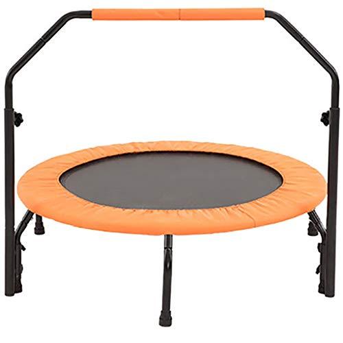 HYJBGGH Trampolines d'extérieur Trampoline Fitness Mini Rebounder Silencieux en Caoutchouc Trampoline Réglable Hauteur Poignée De Haute Qualité Professionnel Gym Trampoline Fitness (Color : Orange)