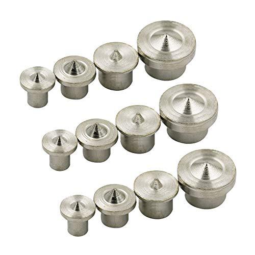 12 Stücke Dübelloch Set, Edelstahl Dübel Zentrierstift Set, für Holzverarbeitung Holz Tenon Bit Werkzeug zum Positionieren (6 mm 8 mm 10 mm 12 mm)