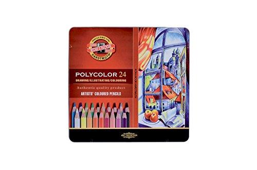 KOH-I-NOOR Polycolor Artist's Coloured Pencils (Set of 24)