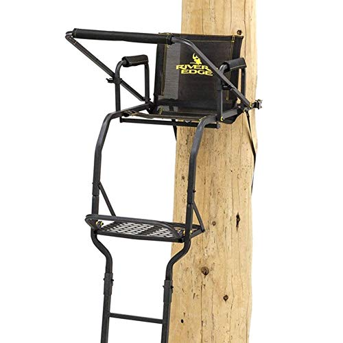 Rivers Edge RE661 Deluxe XT 1 Man Seat Lock On Deer Hunting Tree Ladder Stand, Black