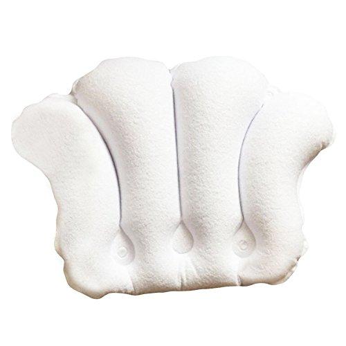 Grande serviette gonflable PVC Bath Spa Pillow Tissu Soaker Tub Coussin-Blanc